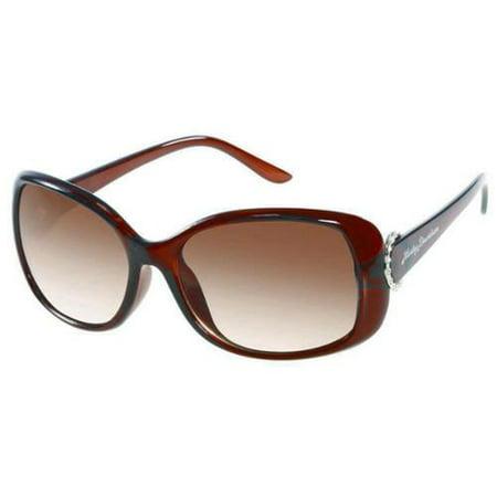 New Hds 5020 Womens/Ladies Designer Full-Rim Gradient Brown Frame Gradient Brown Lenses 59-17-135 Crystals Sunglasses/Shades - Frame Brown Gray Gradient Lenses