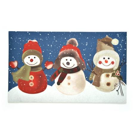 Kittrich Stephan Roberts Snow Buddies Rubber Doormat, 18''x30'' (Personalized Snow Buddies)