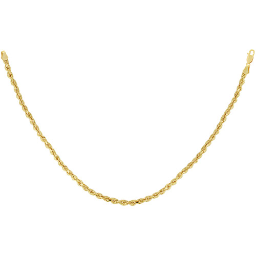 2mm Diamond-cut 10kt Yellow Gold Rope Ch