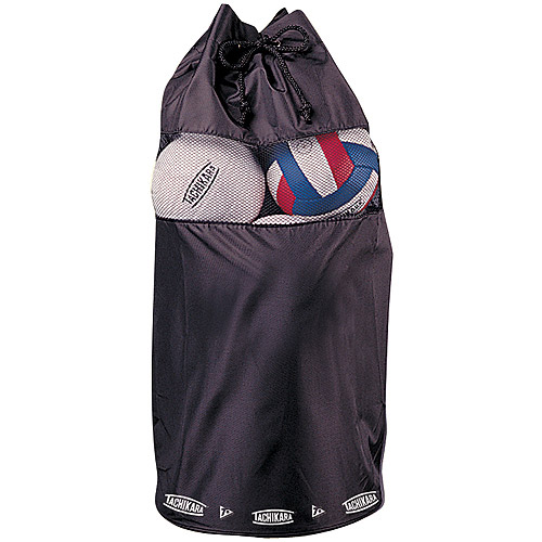 Tachikara Nylon and Mesh All Purpose Volleyball Ball Bag, Black
