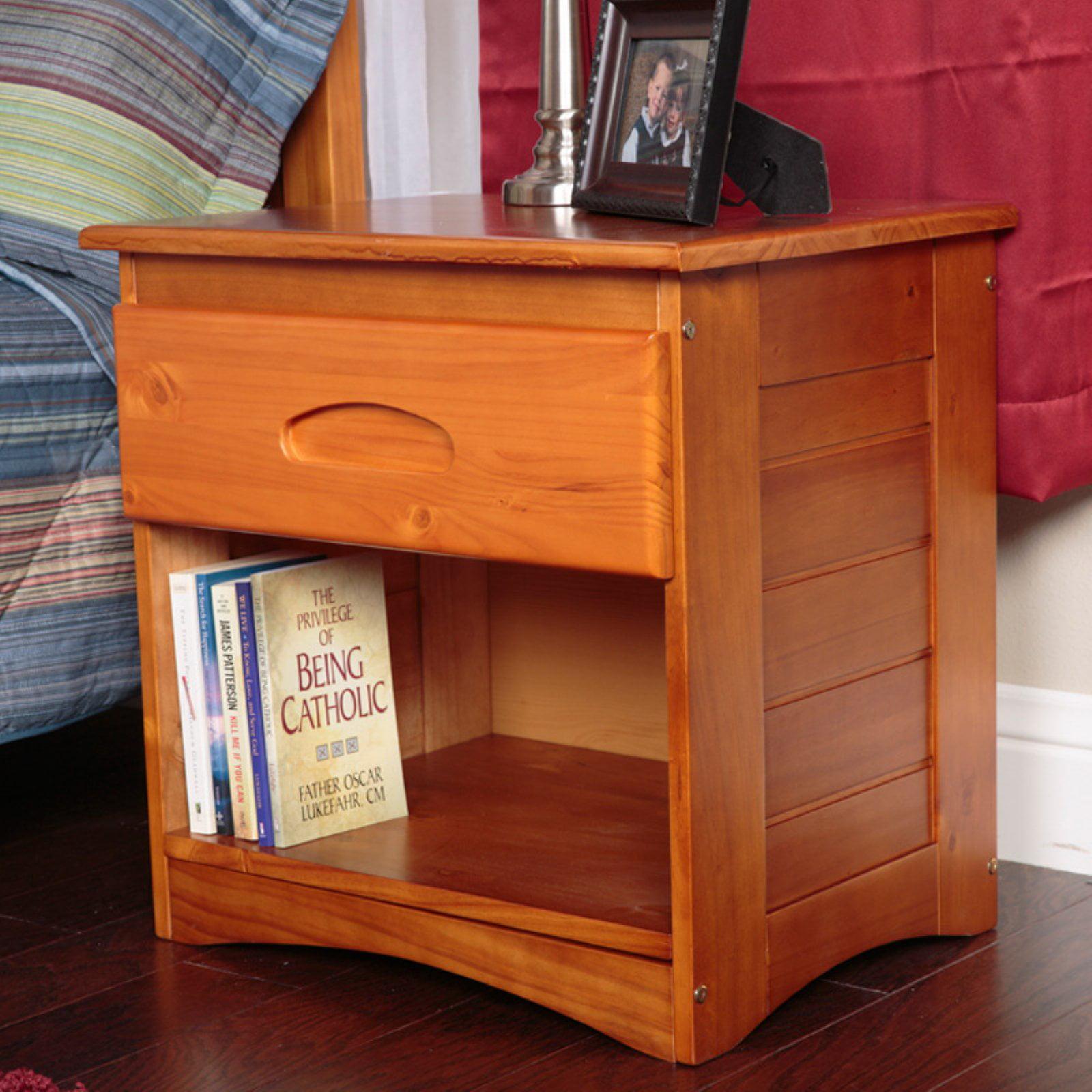 American Furniture Classics 1-Drawer Nightstand, Honey Finish