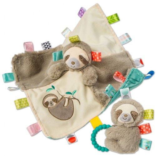 Taggies Molasses Sloth Blanket & Rattle Set by Mary Meyer