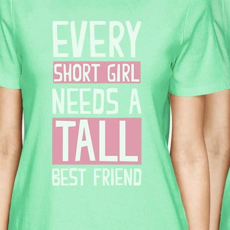 25ca06121f 365 Printing - Tall Short Friend BFF Matching Shirts Womens Mint ...