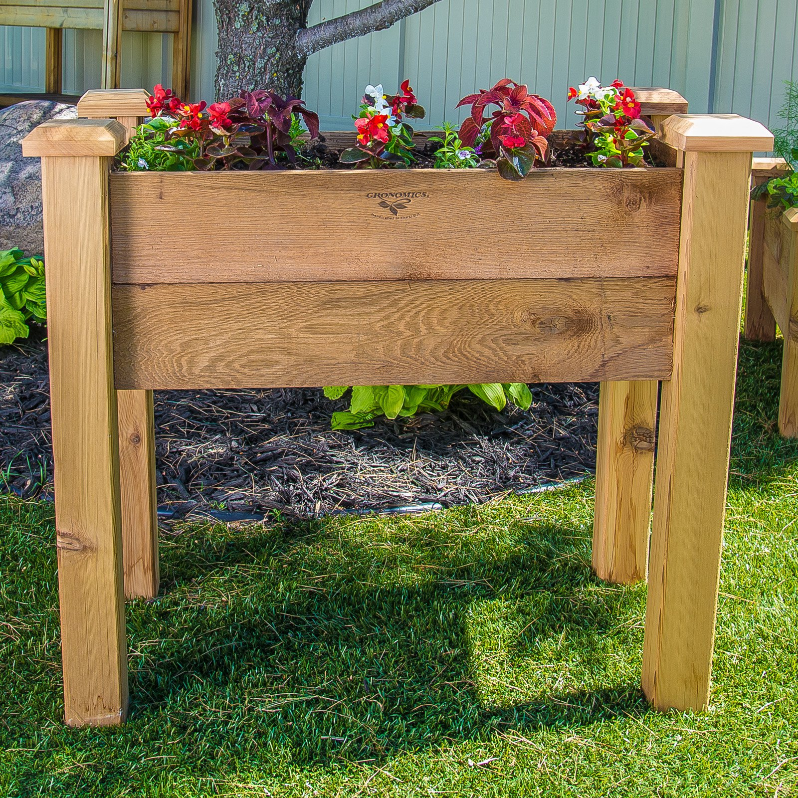 Gronomics Rustic Cedar Raised Garden Bed Walmart Com