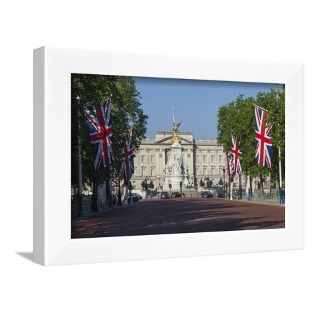 Buckingham Palace Down the Mall with Union Jack Flags, London, England, United Kingdom, Europe Framed Print Wall Art By James Emmerson - Darth Maul Theme
