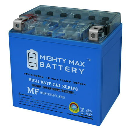 YTX14-BS GEL Battery Replaces Mercedes Backup Auxiliary (Auxiliary Battery)