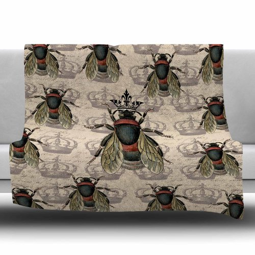 East Urban Home Queen Bee by Suzanne Carter Fleece Blanket