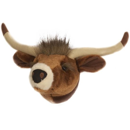Carstens Friendly Faces Mini Longhorn Plush Animal Wall Dcor Trophy Mount ()