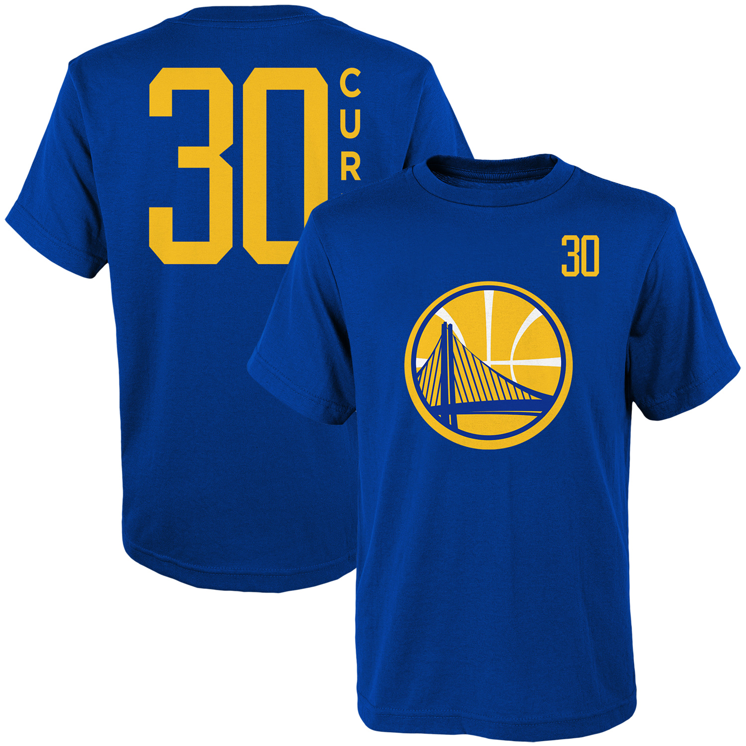 Youth Stephen Curry Royal Golden State Warriors Name & Number T-Shirt
