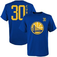 b3aa44f5e24 Product Image Youth Stephen Curry Royal Golden State Warriors Name & Number  T-Shirt