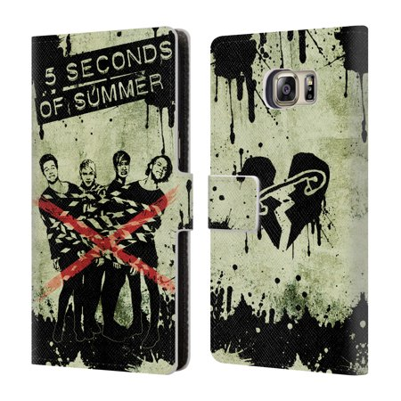 OFFICIAL 5 SECONDS OF SUMMER ART LEATHER BOOK WALLET CASE COVER FOR SAMSUNG PHONES 1