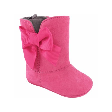 894d79ba6c0 Wee Kids Baby-Girls' Fashion Boots with Grossgrain Bow (Infant Crib Shoes  Soft Sole Baby Shoes) Fuchsia Pink Size 3 (Suede Boots)