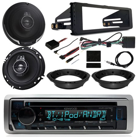 98-2013 Harley Davidson FLHT FLHTC FLHTCU Touring - Kenwood CD USB Bluetooth Radio, 2x Kenwood 320 Watt 6.5