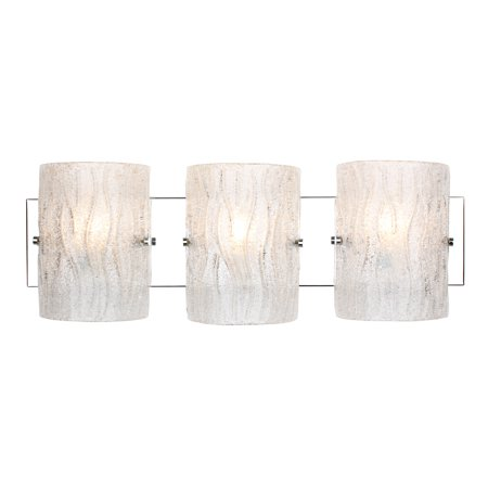 Varaluz - Brilliance - 3 Light Bath Vanity - Chrome Finish - Bright Ice Glass