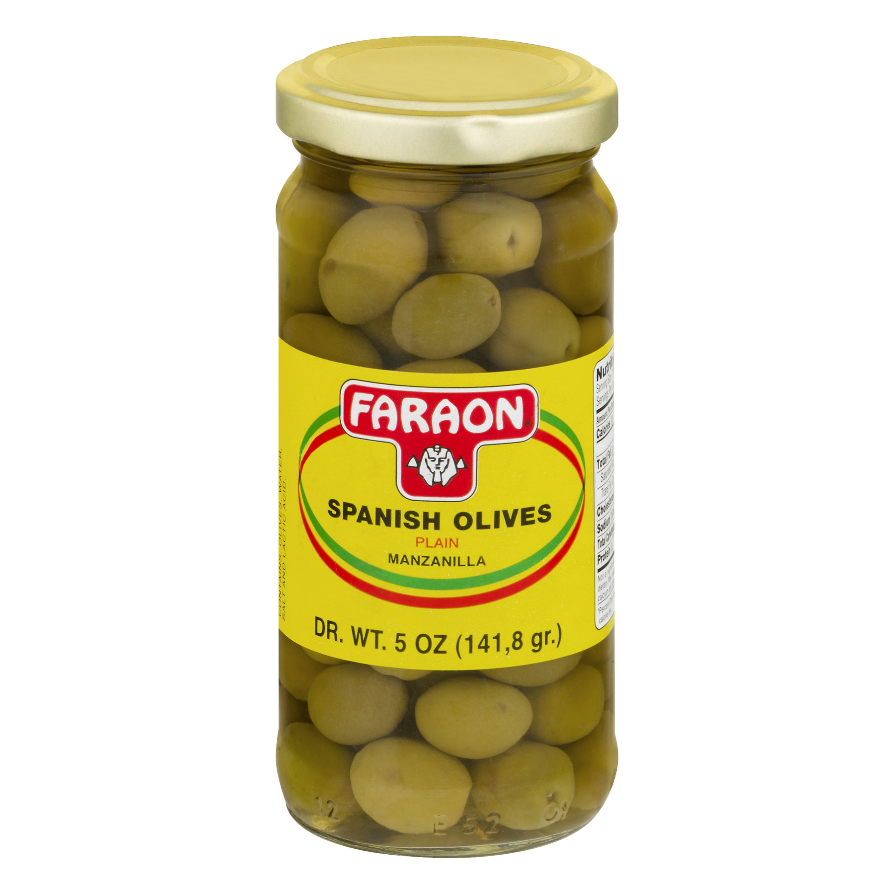 Faraon Spanish Olives Plain, 5.0 OZ