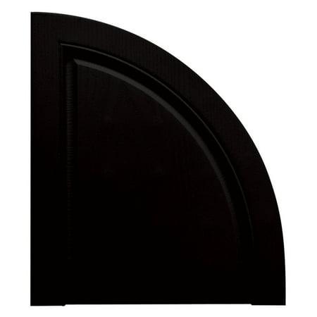 Bright Rounded Edges (Builders Edge 15W in. Raised Panel Quarter Round Vinyl Shutter)