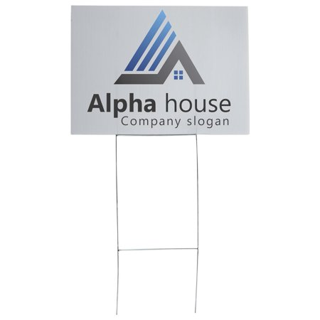 Set of 10, Steel Frame Real Estate Signs for Outdoor Use, Yard Signs Display Cardboard or Corrugated Board Signs (Not Included), 9-guage Steel (Silver) - Corrugated Cardboard Displays