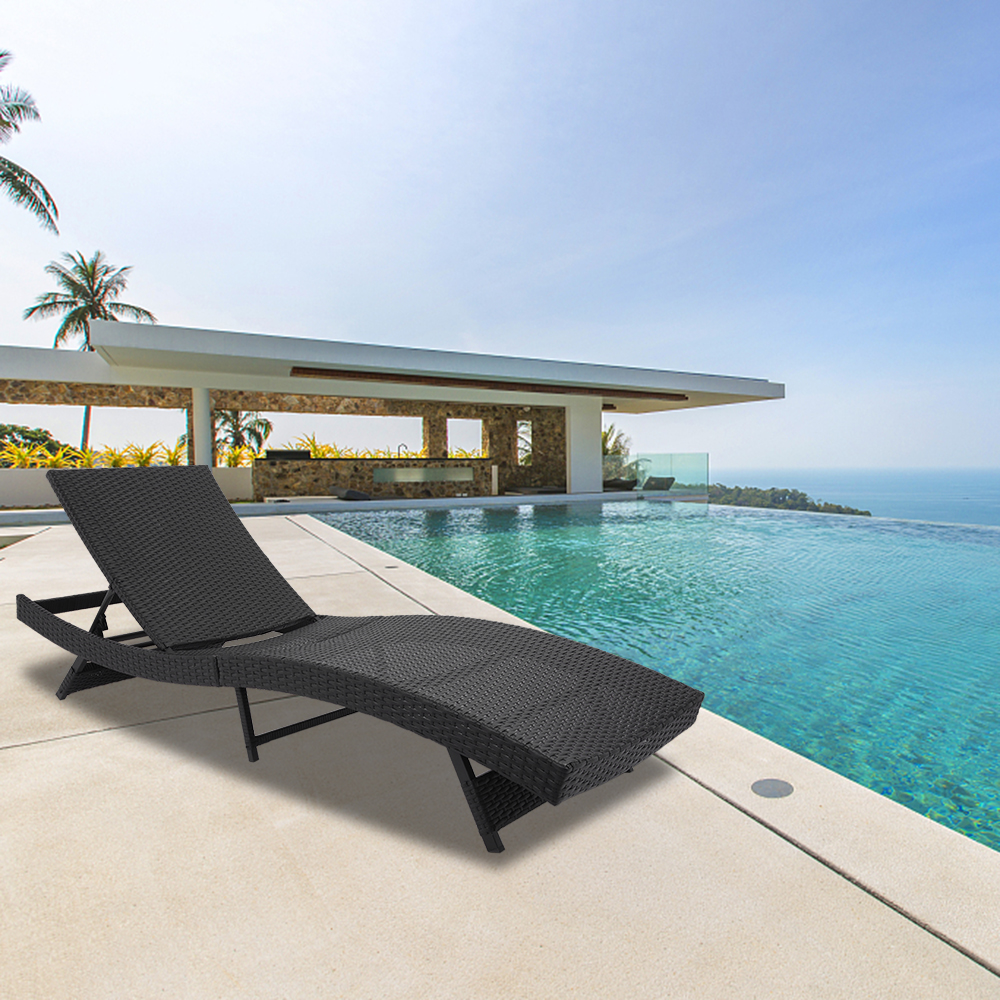Outdoor Chaise Lounges Rattan Chaise Lounge Chairs With