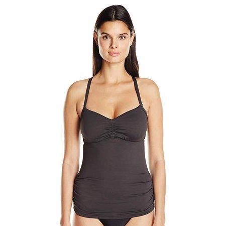 Seafolly Women's DD Cup Tankini Top Swimsuit, Steel, Sz aus