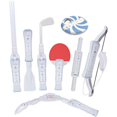 Cta Digital Steering - CTA Digital Wii Sports Resort 8-in-1 Sports Pack (White)
