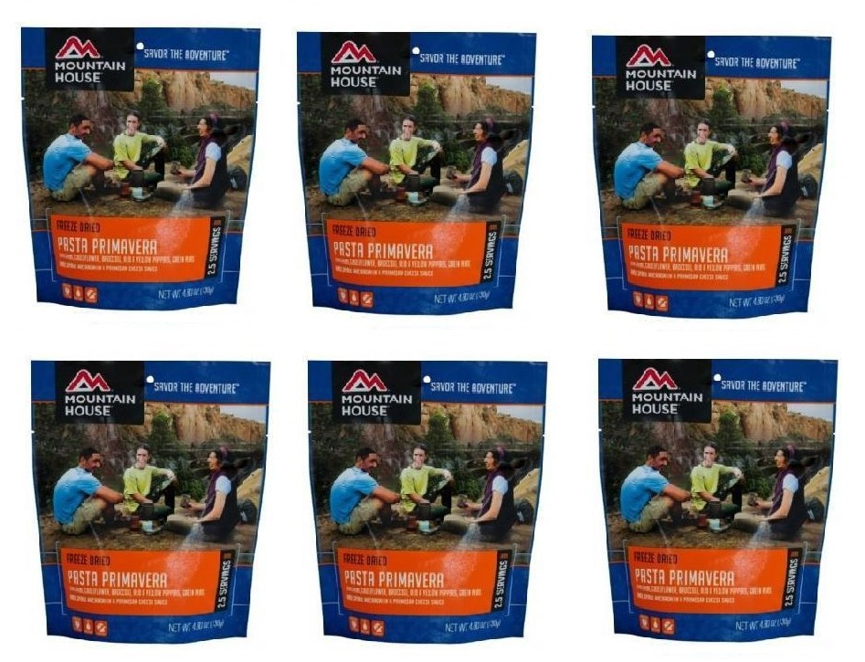 Mountain House Freeze Dried 6 Food Pouches -Pasta Primavera by