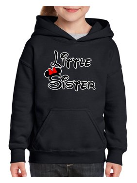 Cartoon Girl Little Sister Unisex Hoodie For Girls and Boys Youth Sweatshirt