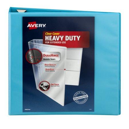 avery 2 heavy duty view 1 touch slant ring aqua binder walmart com