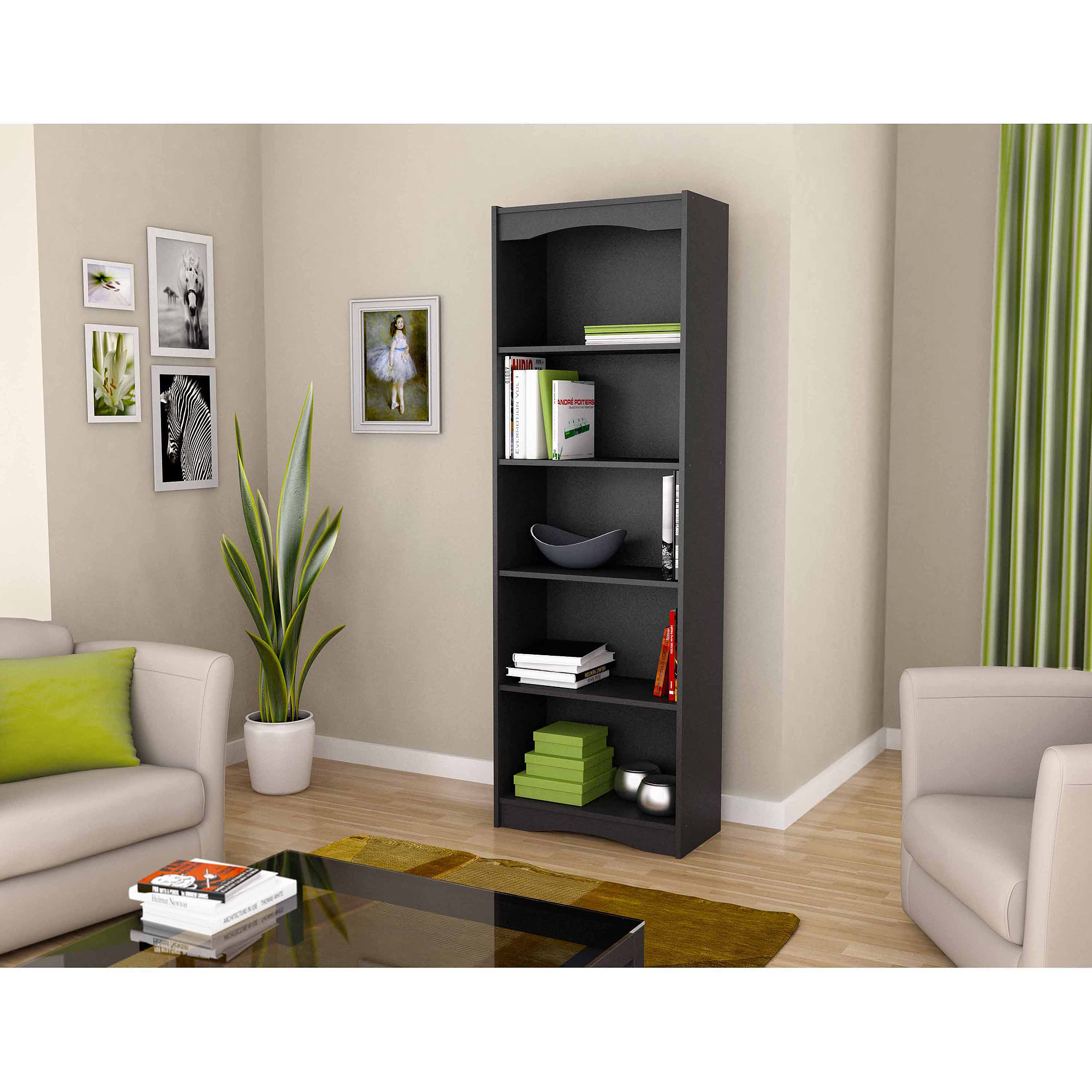 "Sonax S-217-NHL Hawthorn 72"" Tall Bookcase, Multiple Colors"