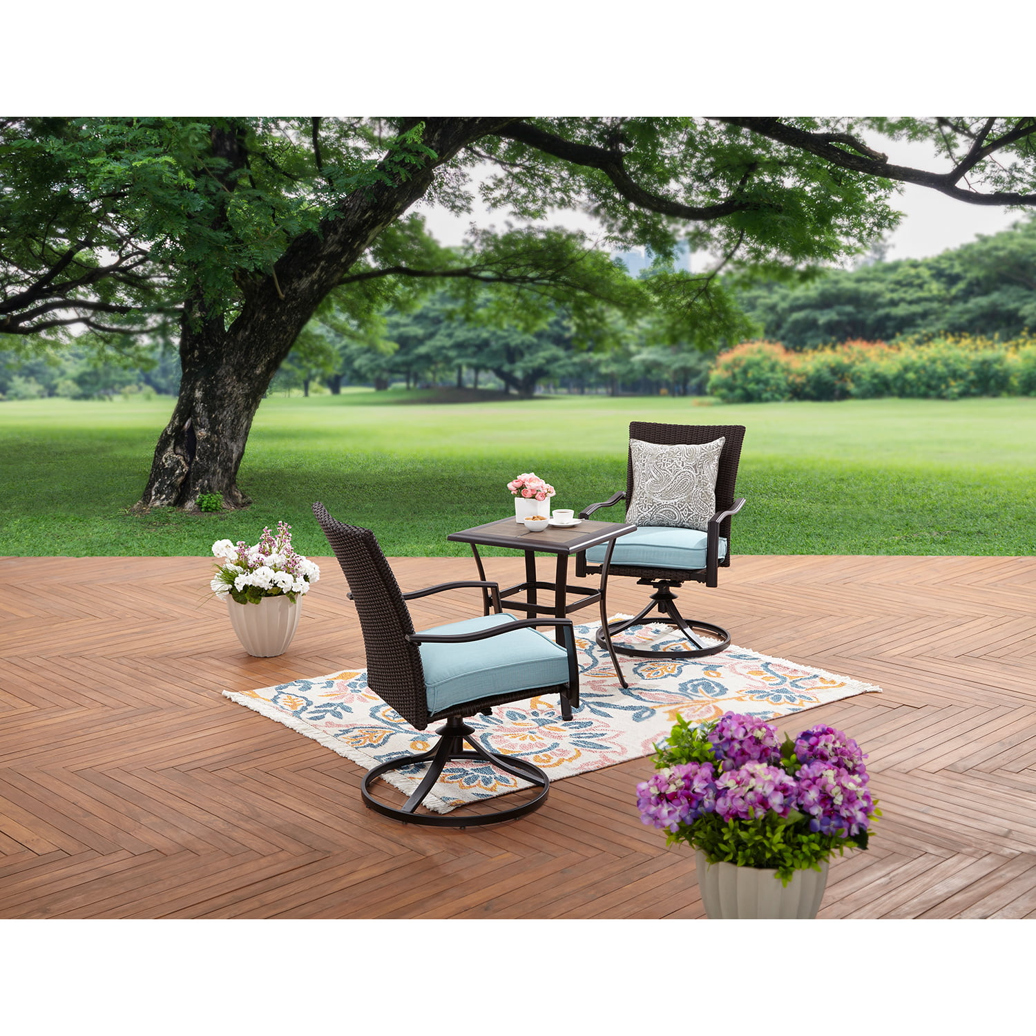 Better Homes and Garden Piper Ridge 3-Piece Wicker Bistro Set by Courtyard Creations Inc