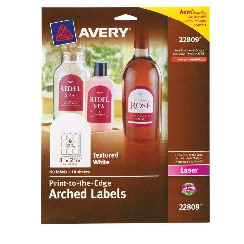 "Avery Promotional Label - 3"" Width X 2.25"" Length - 90 / Pack - Arch - 9/sheet - Laser - White (22809_40)"