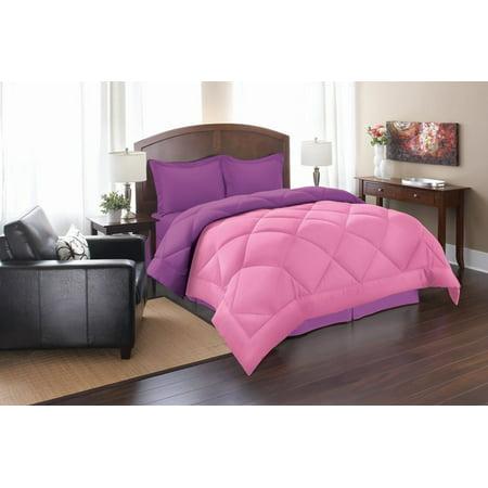 - Celine Linen Down Alternative 2pc Comforter Set-Twin, Pink/Purple