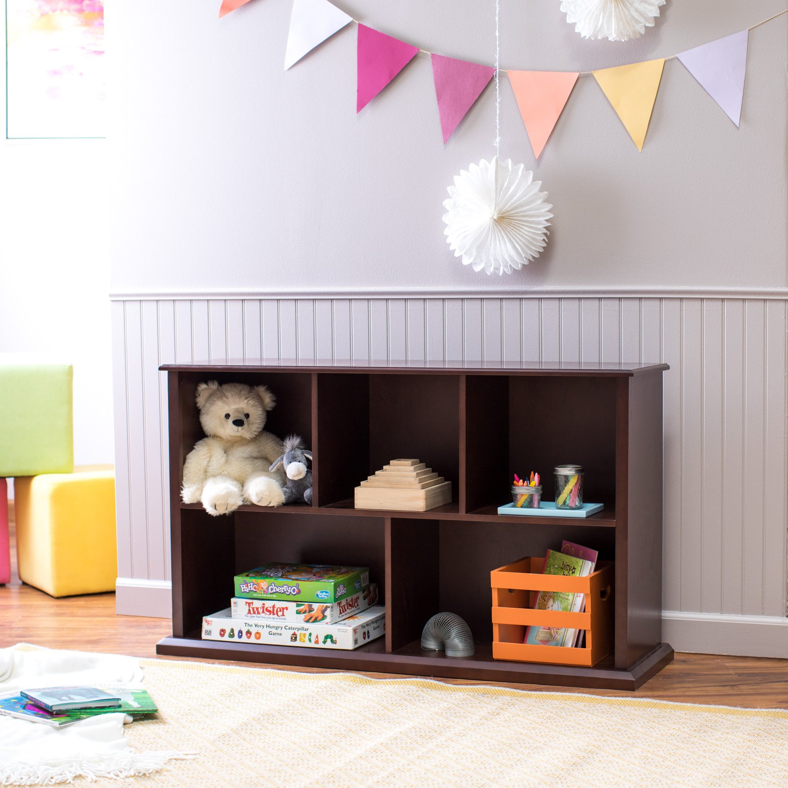 Classic Playtime Espresso Multi Cube Stackable Bookcase