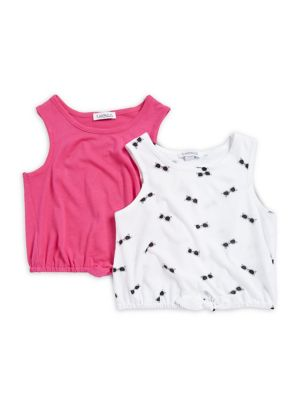 Little Girl's Two-Pack Tie-Waist Top