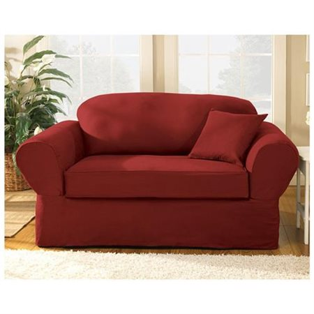 Sure Fit Twill Supreme Two Piece Sofa Slipcover