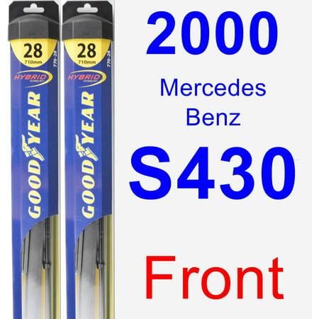 Mercedes Benz S430 Tire - 2000 Mercedes-Benz S430 Wiper Blade Set/Kit (Front) (2 Blades) - Hybrid
