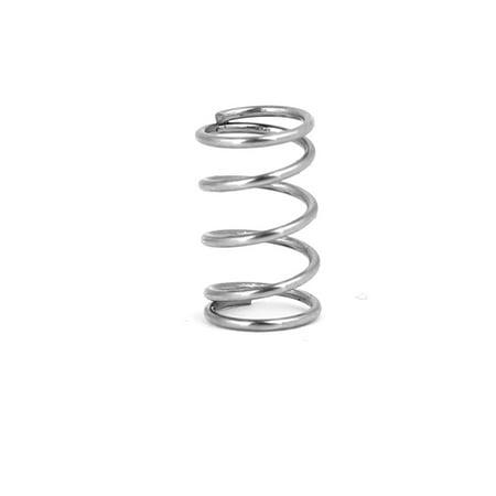 0.6mmx6mmx10mm acier inox 304 Compression Ressort Argenté 20pc - image 1 de 3