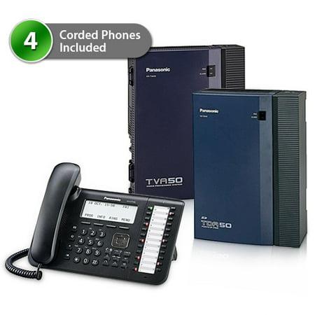 Panasonic Ip Pbx (Panasonic KX-TDA50G-DT546-1Card-VM Hybrid IP PBX Telephone)