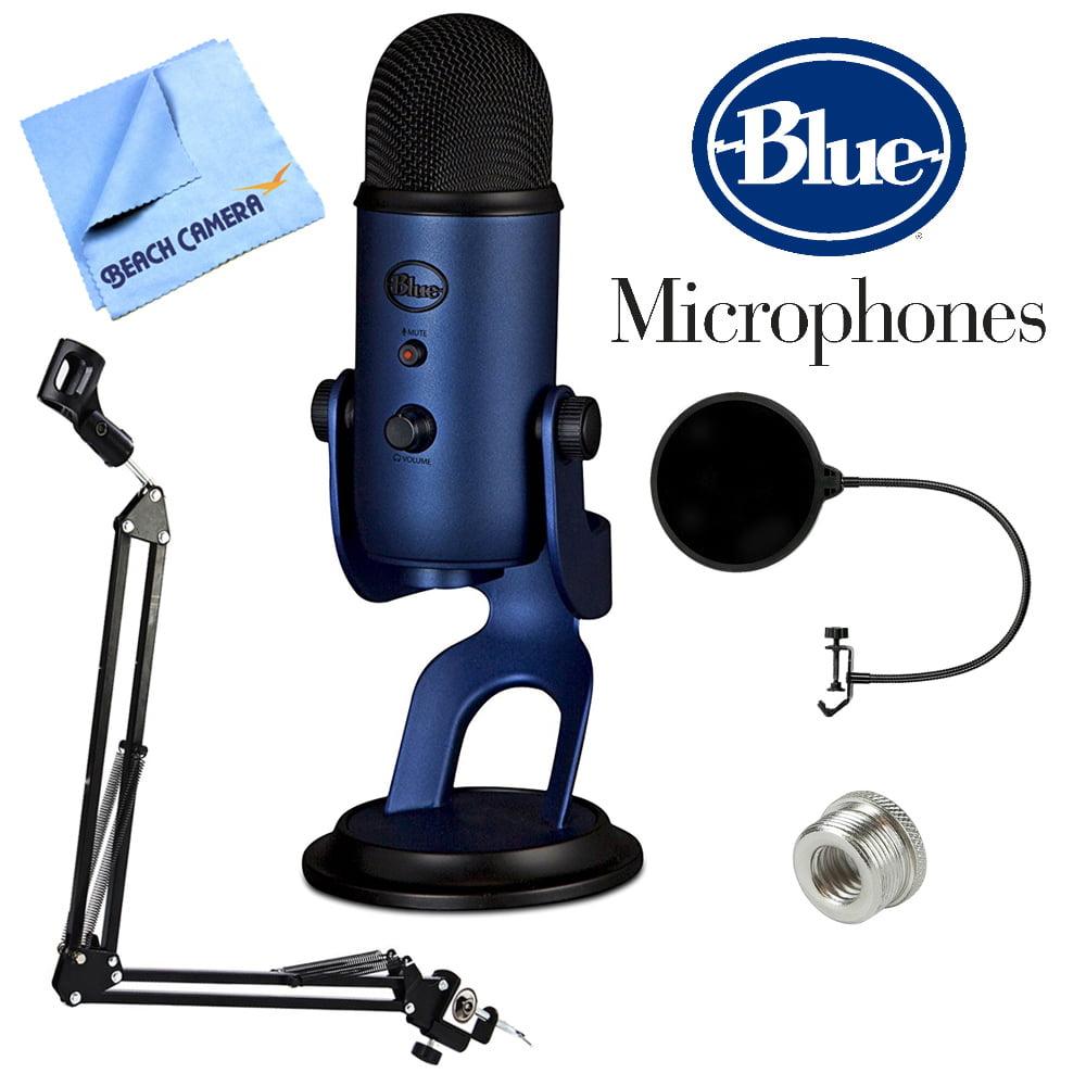 BLUE MICROPHONES Yeti USB Microphone Four Pattern Midnight Blue (Yeti Midnight Blue) +... by Blue Microphones