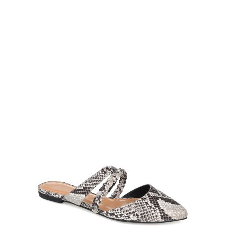 Brinley Co. Womens Braided Strap Pointed Toe Slide