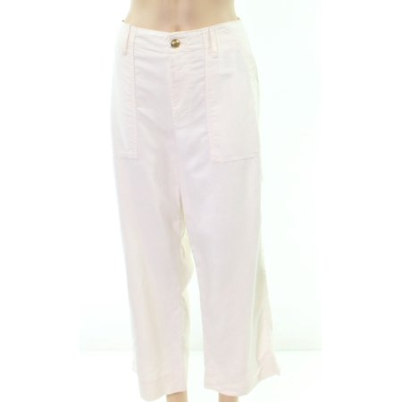 White Womens Wide Leg Casual Pants 16