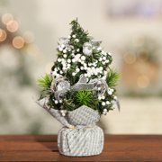 Nicesee Mini Christmas Tree Desk Festival Party Ornament Gifts 20CM/7.87""
