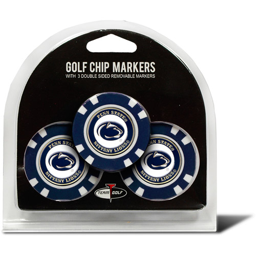 Team Golf NCAA Penn State 3 Pack Golf Chip Ball Markers