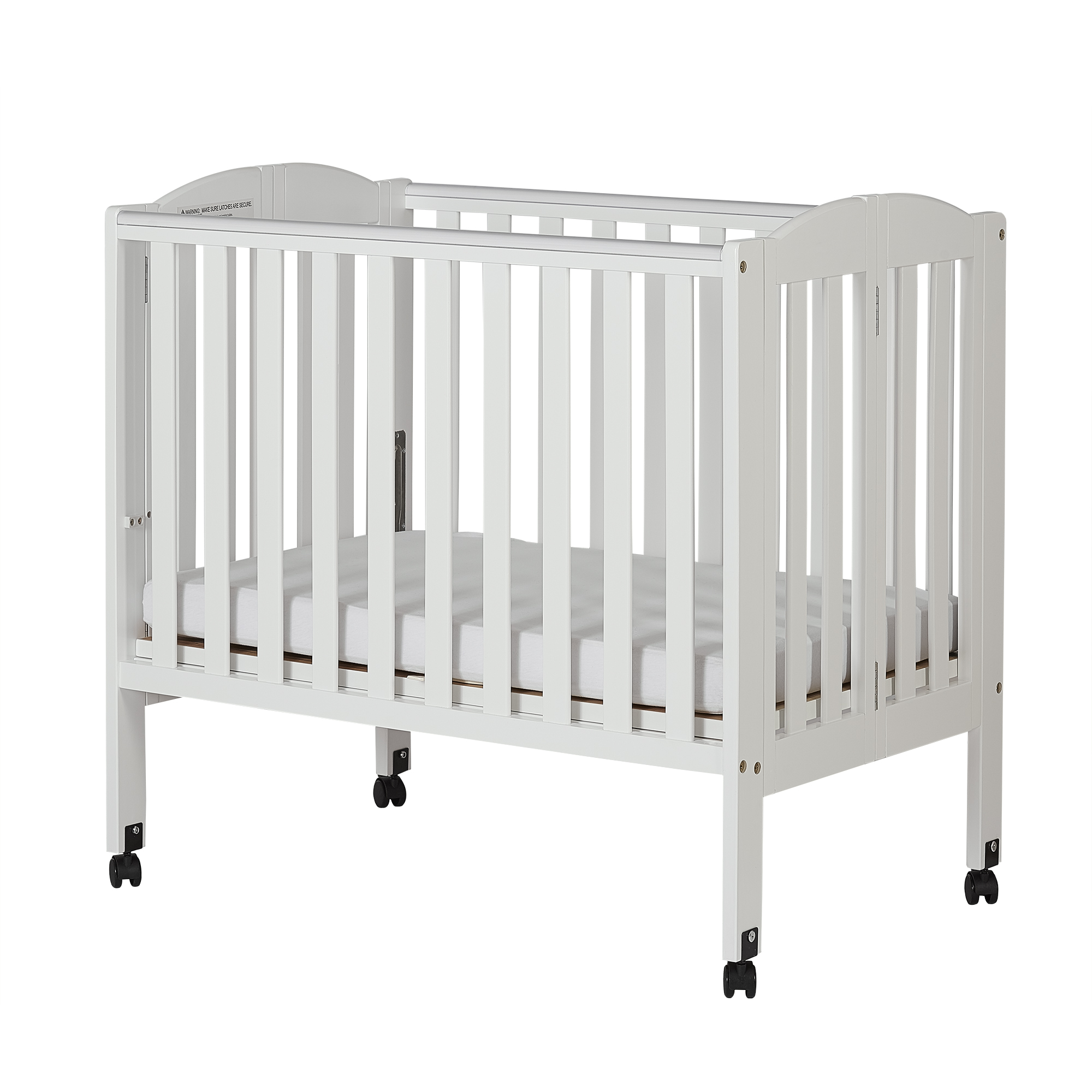 dream on me 2in1 folding portable crib white