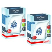 Miele GN HyClean 3D Efficiency Dust Bags for Miele Vacuum, 2-Boxes of 4 Bags & 2 Filters