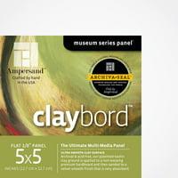 "Ampersand Art Claybord, Uncradled, 1/8"" Profile, 5"" x 5"" 4/Pkg."