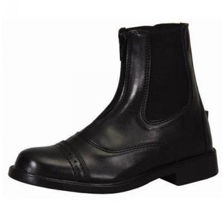 TuffRider Children's Starter Front Zip Paddock Boots, Mocha,