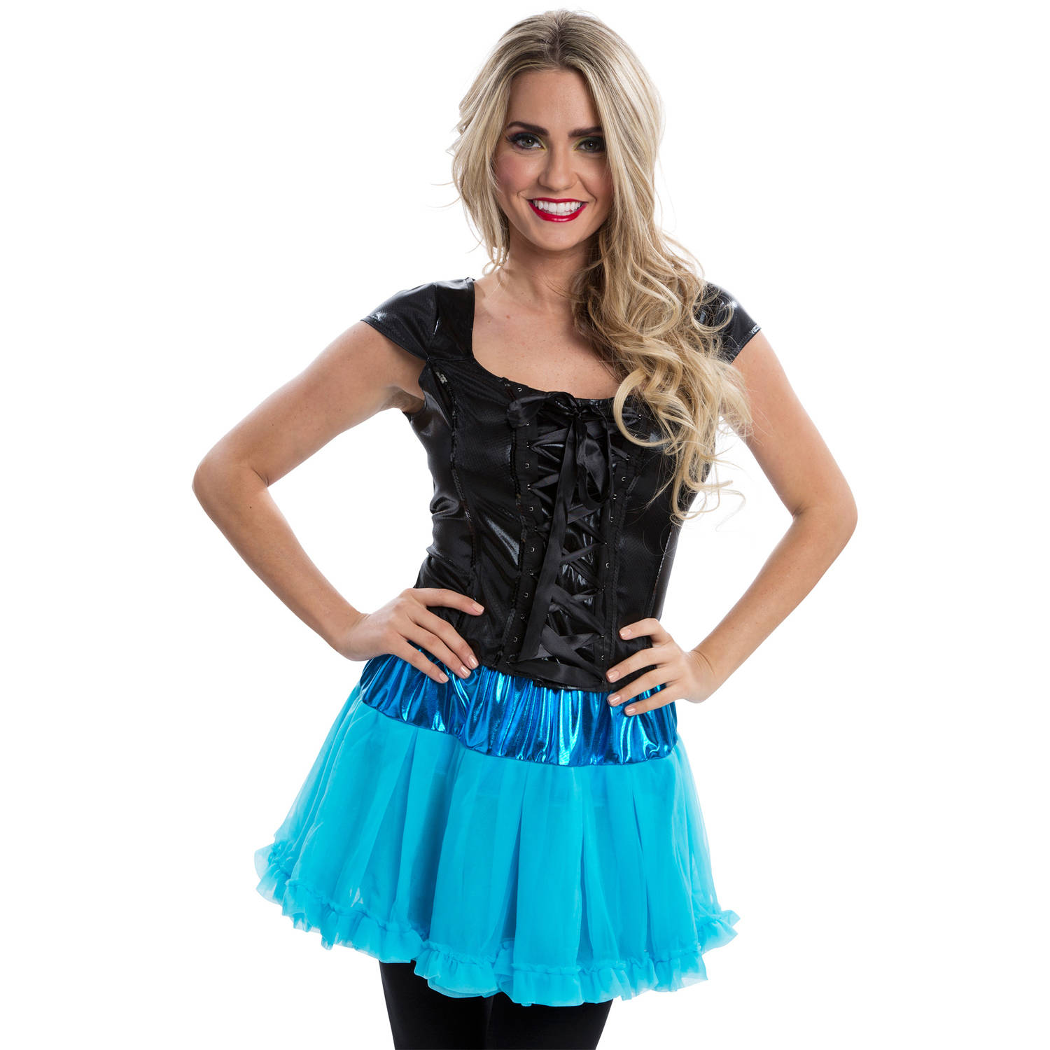 Lace-Up Black Top Women's Adult Halloween Dress Up / Role Play Costume