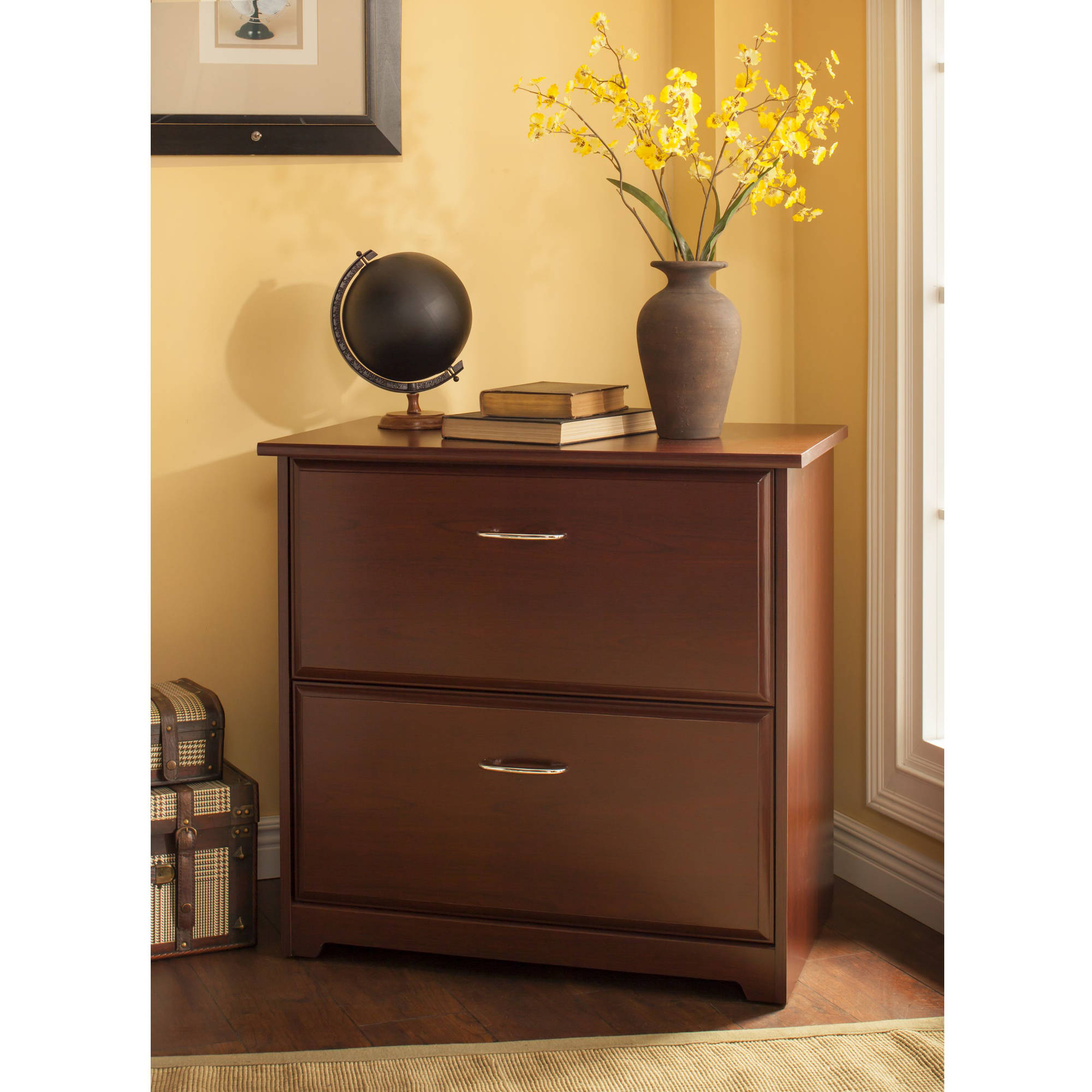 Cherry File Cabinets Bush Furniture Cabot Collection Lateral File Walmartcom