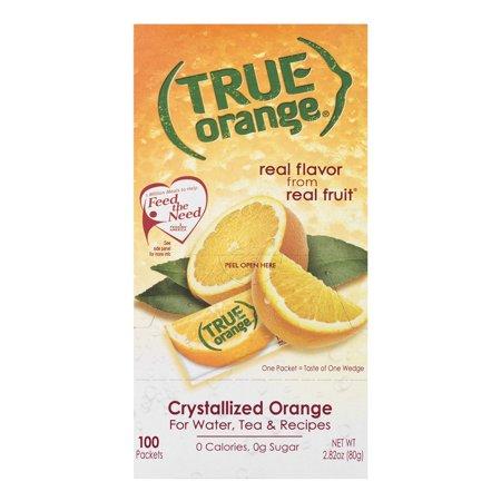 True Lemon Drink Mix, 2.82 Oz, Orange, 100 Packets (Pack of 1) (Orange Drinks For Halloween)