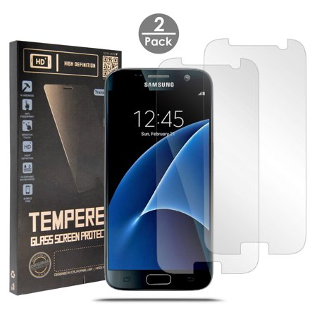 (2X CLEAR HARD TEMPERED GLASS SCREEN PROTECTOR CRACK SAVER FOR SAMSUNG GALAXY S7 SM-G930)